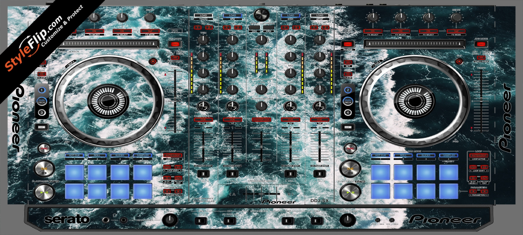 Deep Blue  Pioneer DDJ-SX