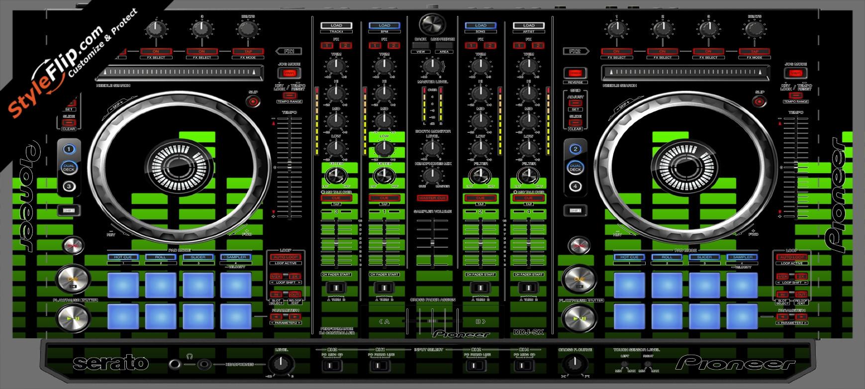 Lime Equalizer Pioneer DDJ-SX