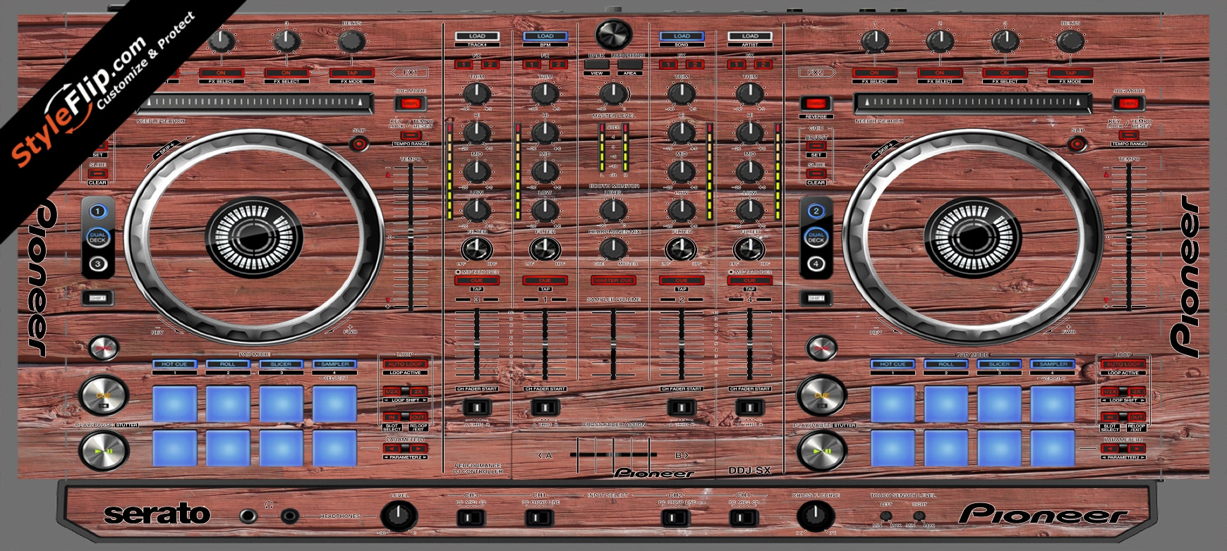 Old Wood  Pioneer DDJ-SX