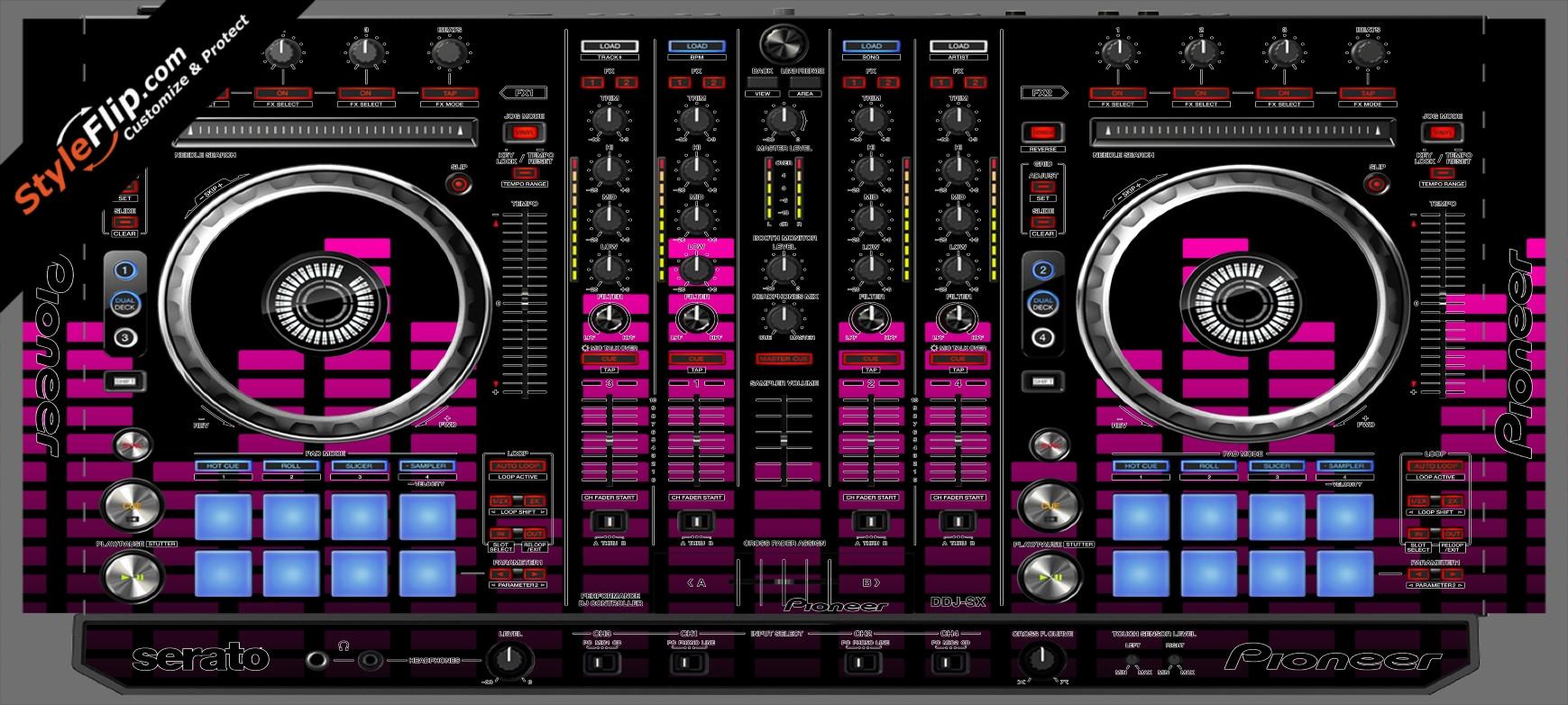 Pink Equalizer Pioneer DDJ-SX