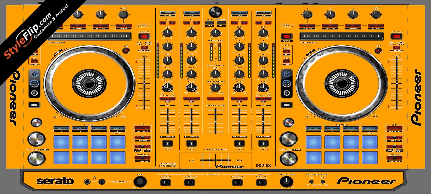 Solid Orange Pioneer DDJ-SX