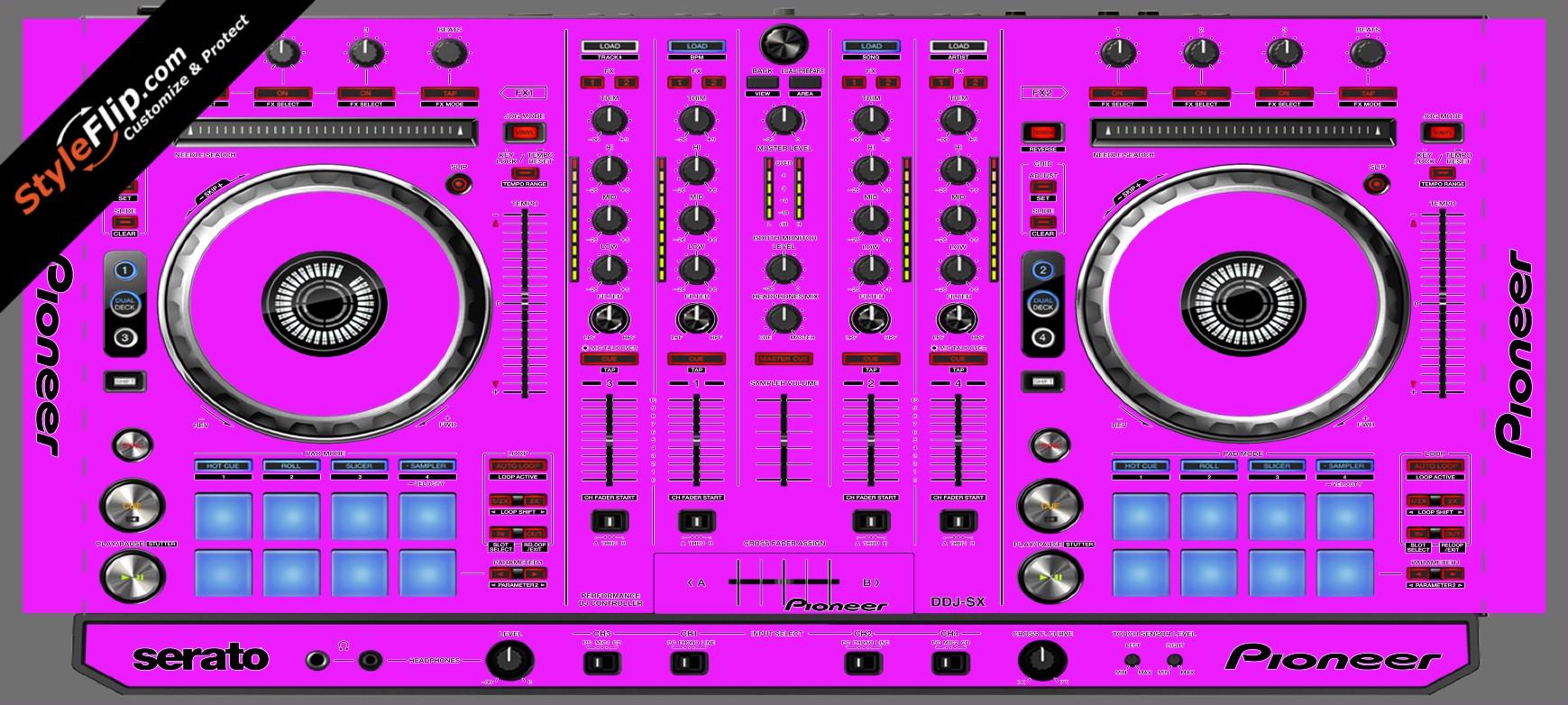 Solid Pink Pioneer DDJ-SX