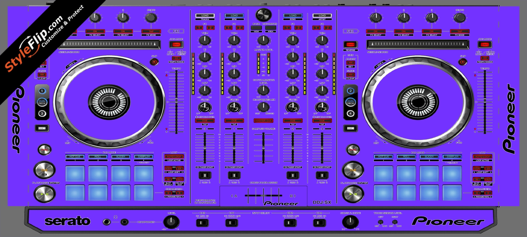 Solid Purple Pioneer DDJ-SX