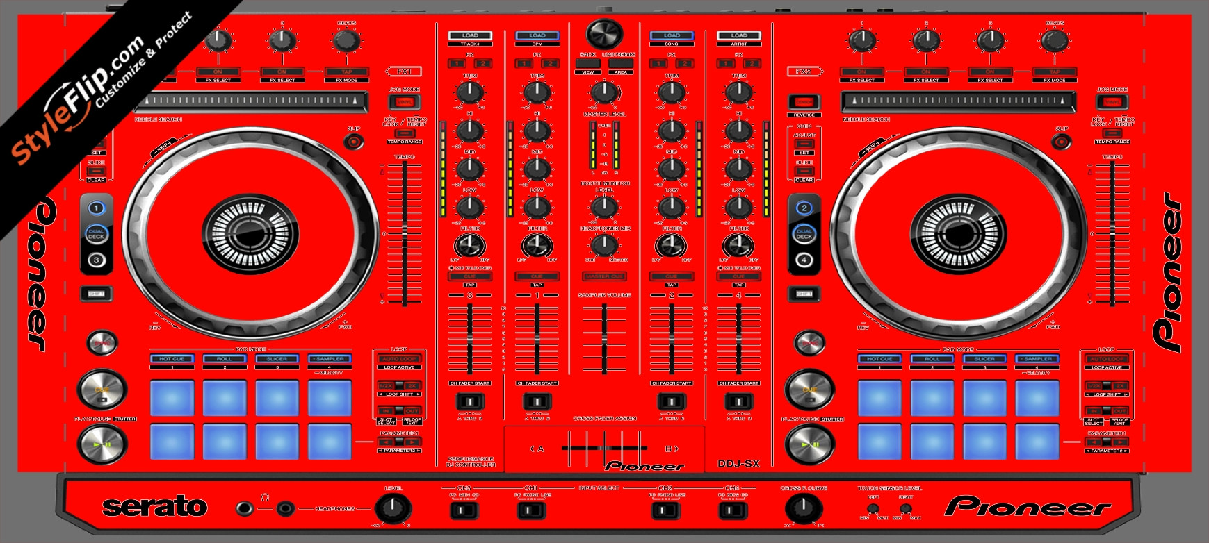 Solid Red Pioneer DDJ-SX