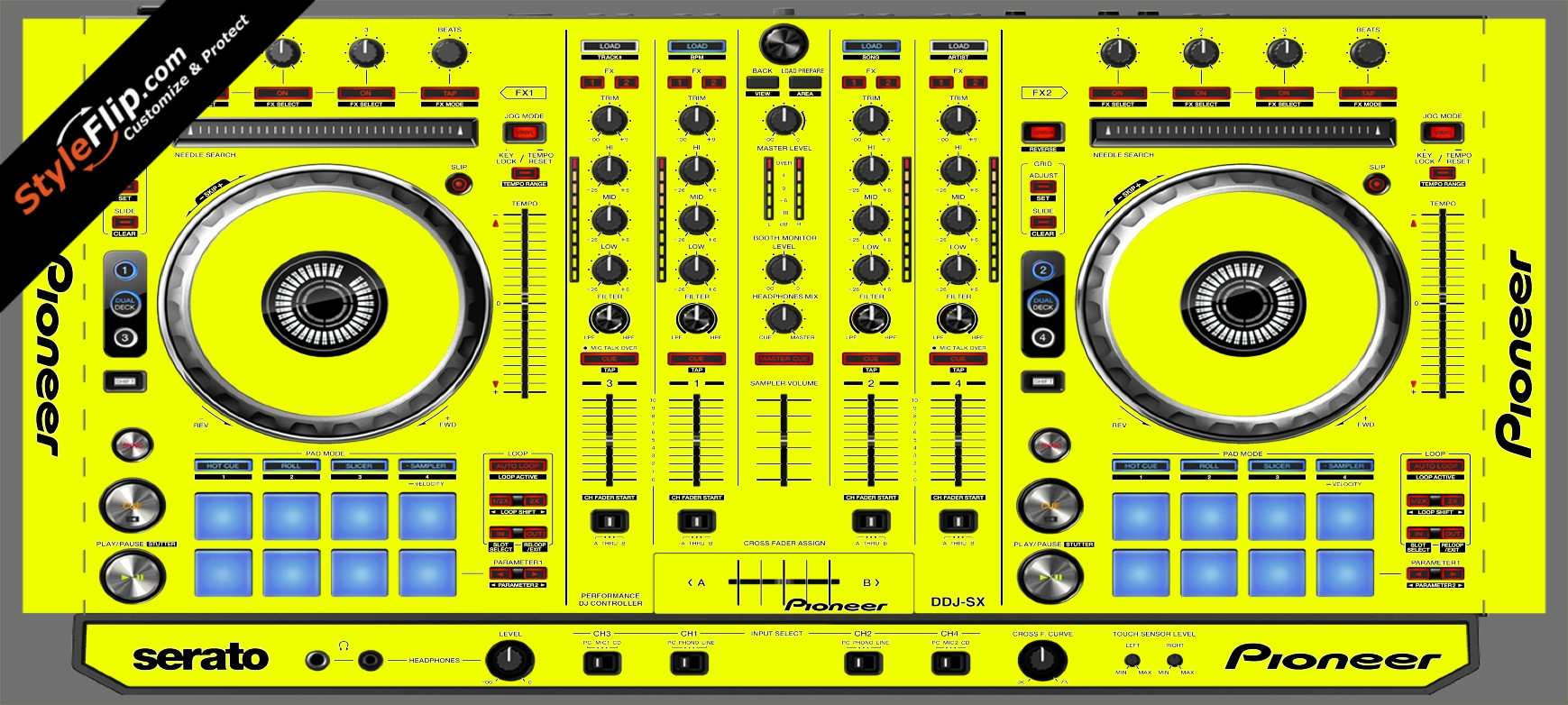 Solid Yellow Pioneer DDJ-SX