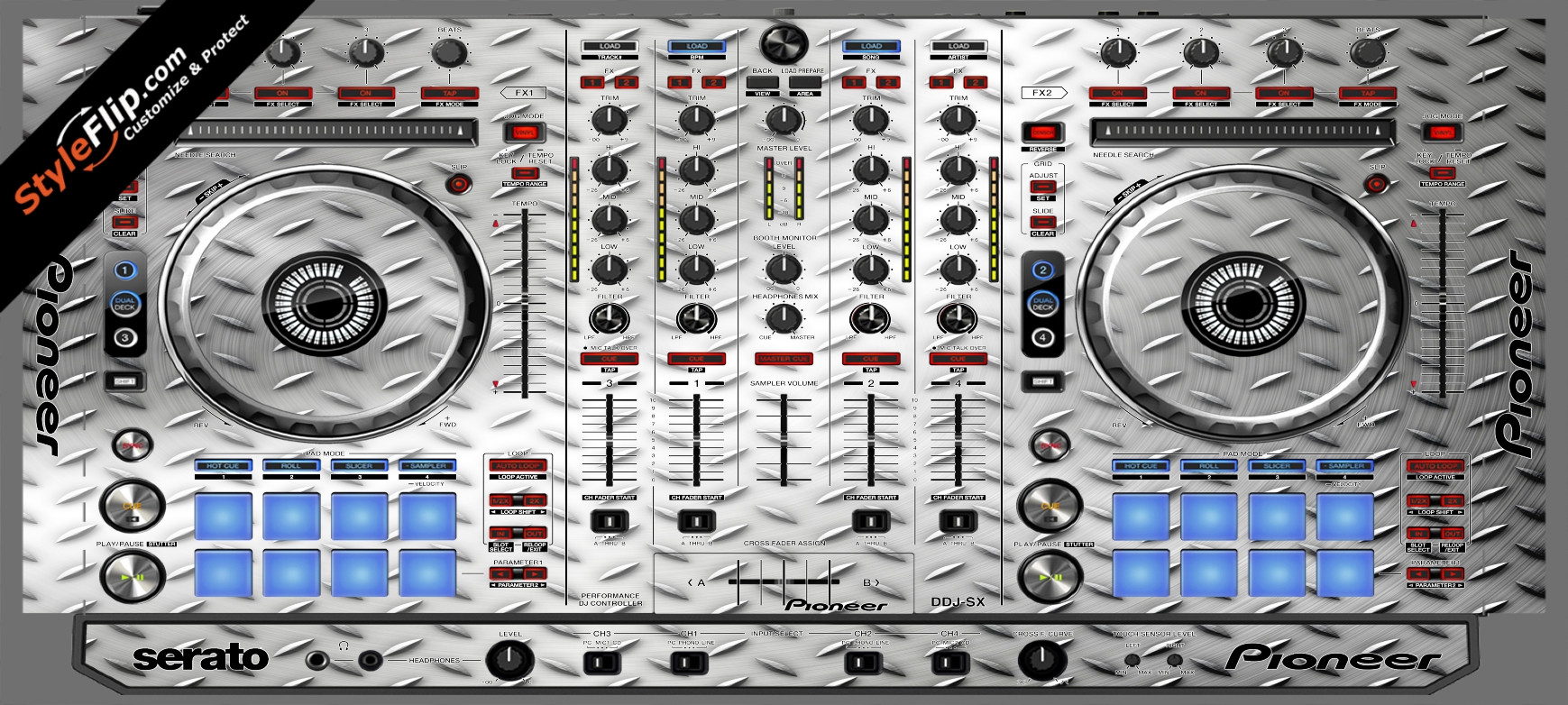 Steel Diamond  Pioneer DDJ-SX