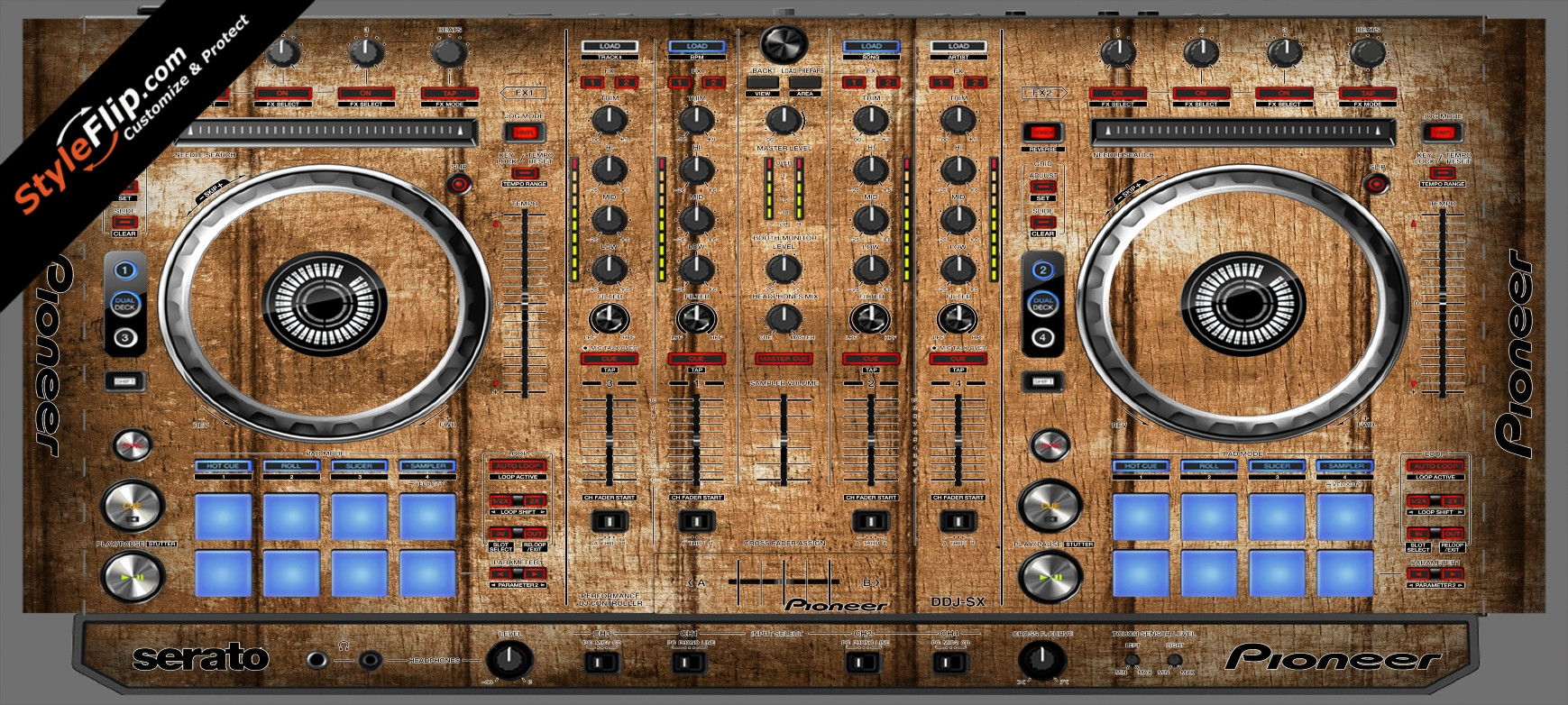 Wood Panels  Pioneer DDJ-SX