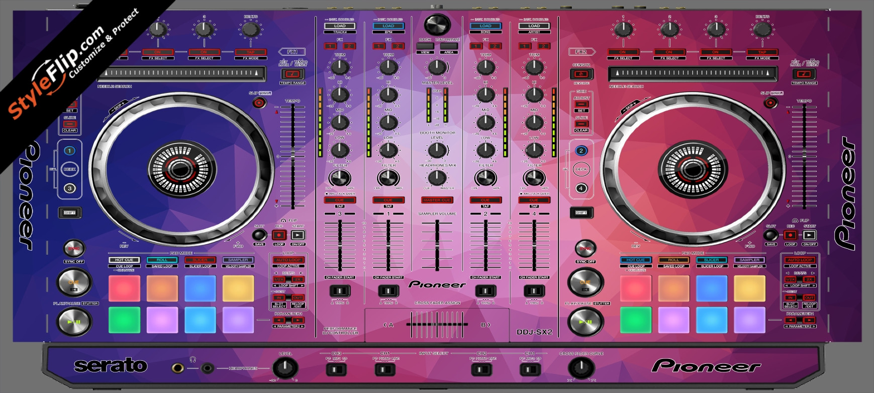 Blue Dreams Pioneer DDJ-SX2