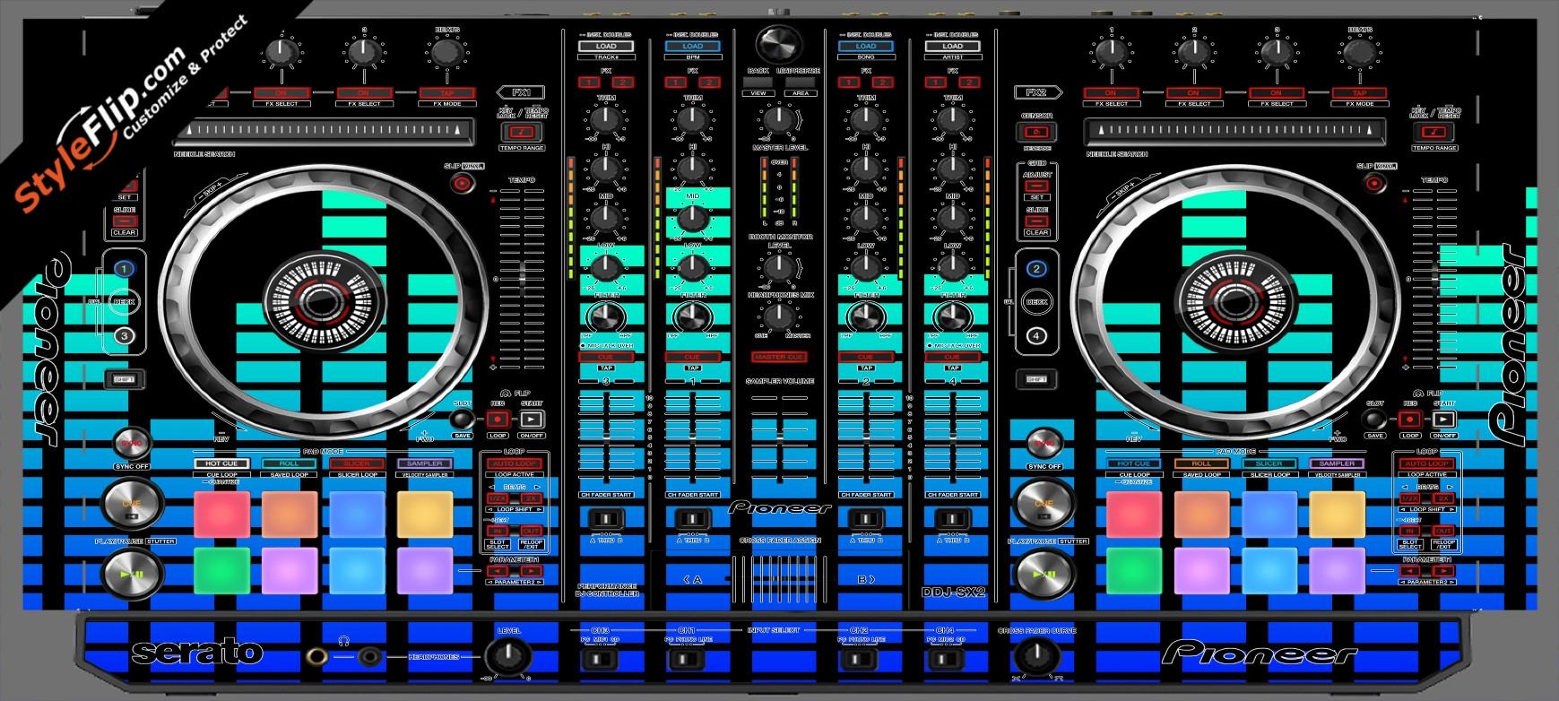 Blue Equalizer  Pioneer DDJ-SX2
