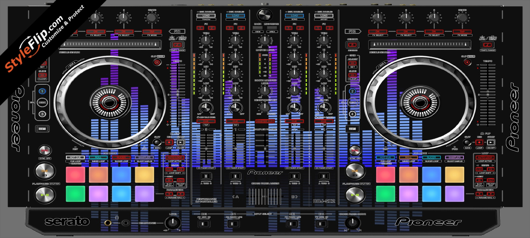 Blue Tones Pioneer DDJ-SX2