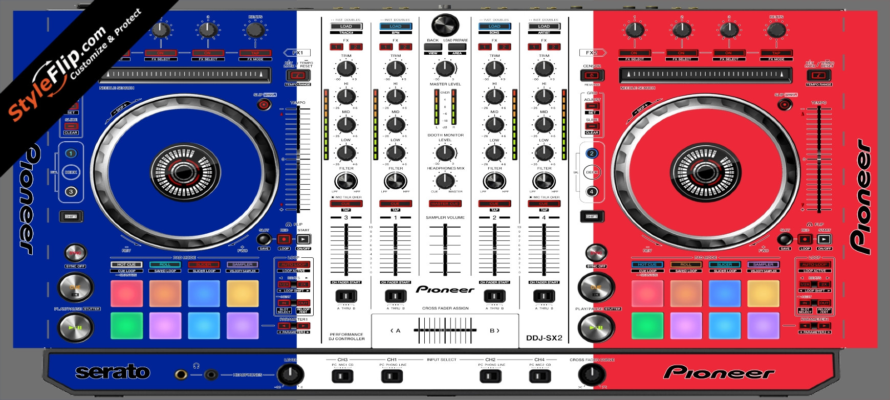 French Flag  Pioneer DDJ-SX2