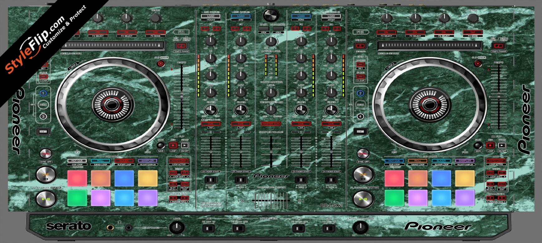 Green Marble Pioneer DDJ-SX2