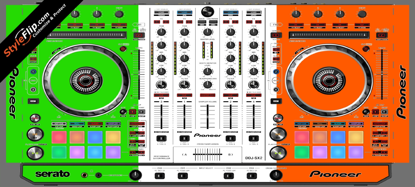 Irish Flag  Pioneer DDJ-SX2