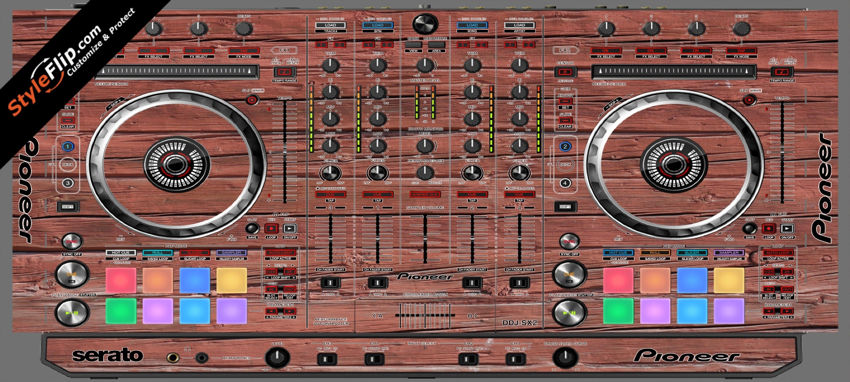 Old Wood  Pioneer DDJ-SX2