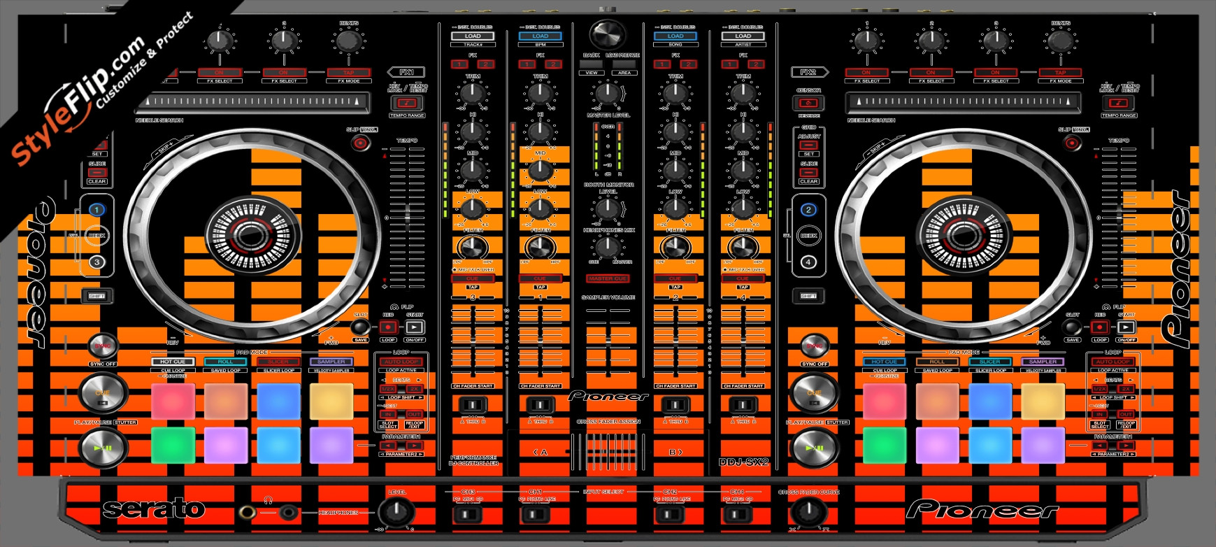Orange Equalizer  Pioneer DDJ-SX2