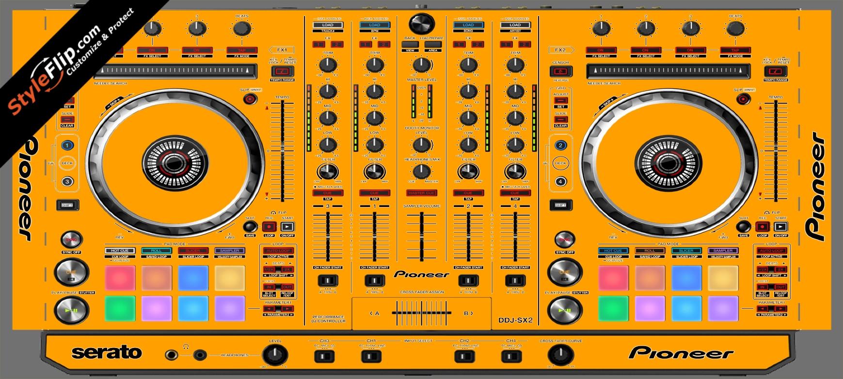 Solid Orange Pioneer DDJ-SX2