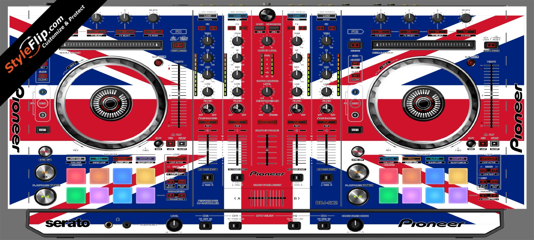 United Kingdom Flag Pioneer DDJ-SX2