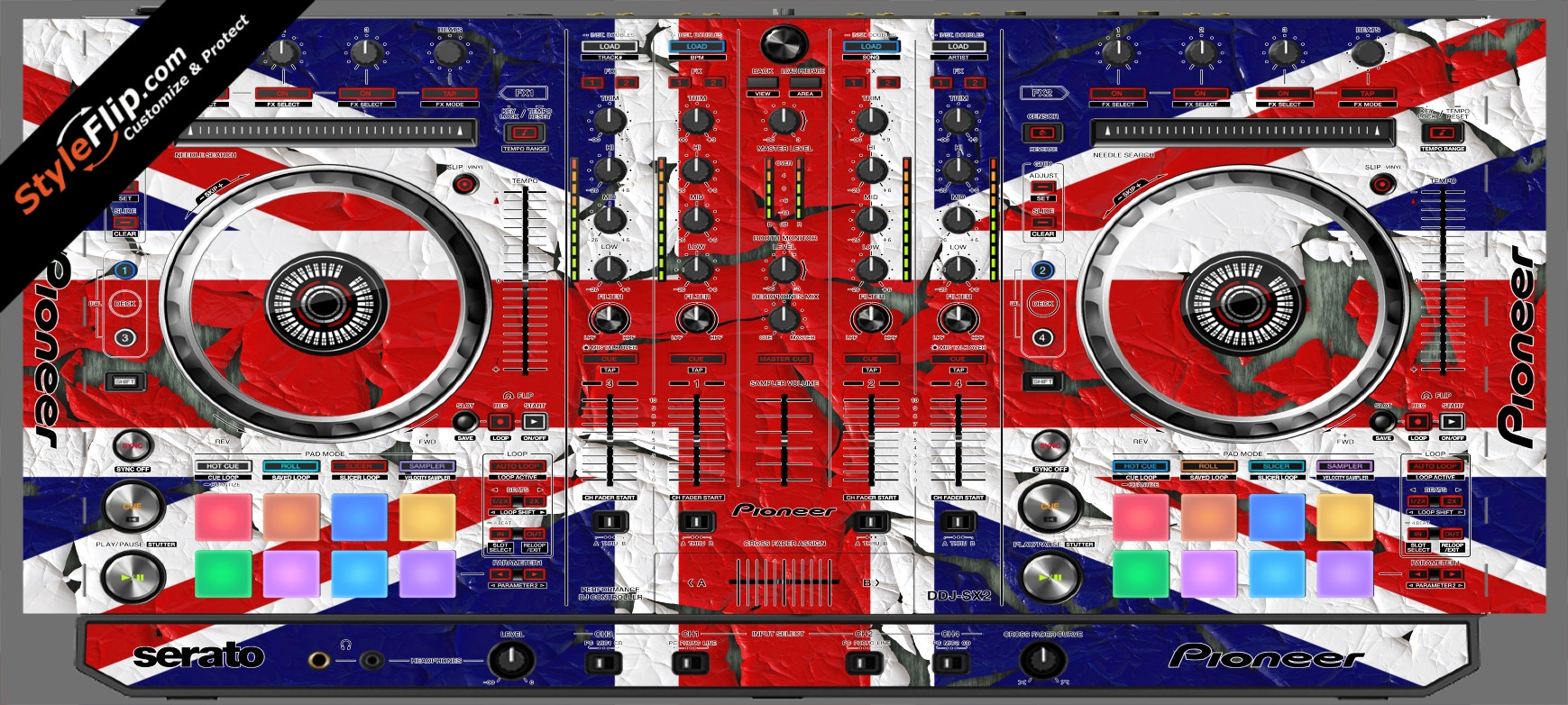 United Kingdom Flag 2  Pioneer DDJ-SX2