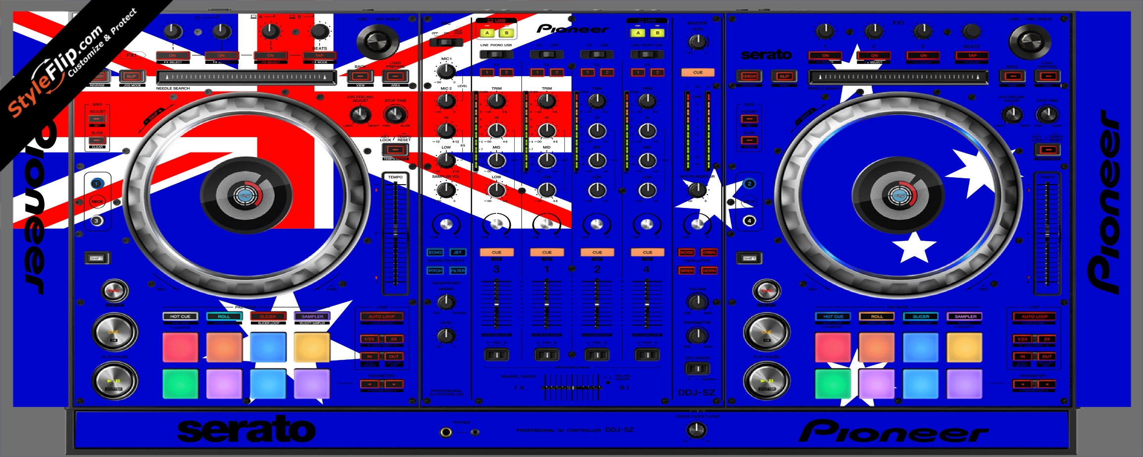 Australian Flag  Pioneer DDJ-SZ