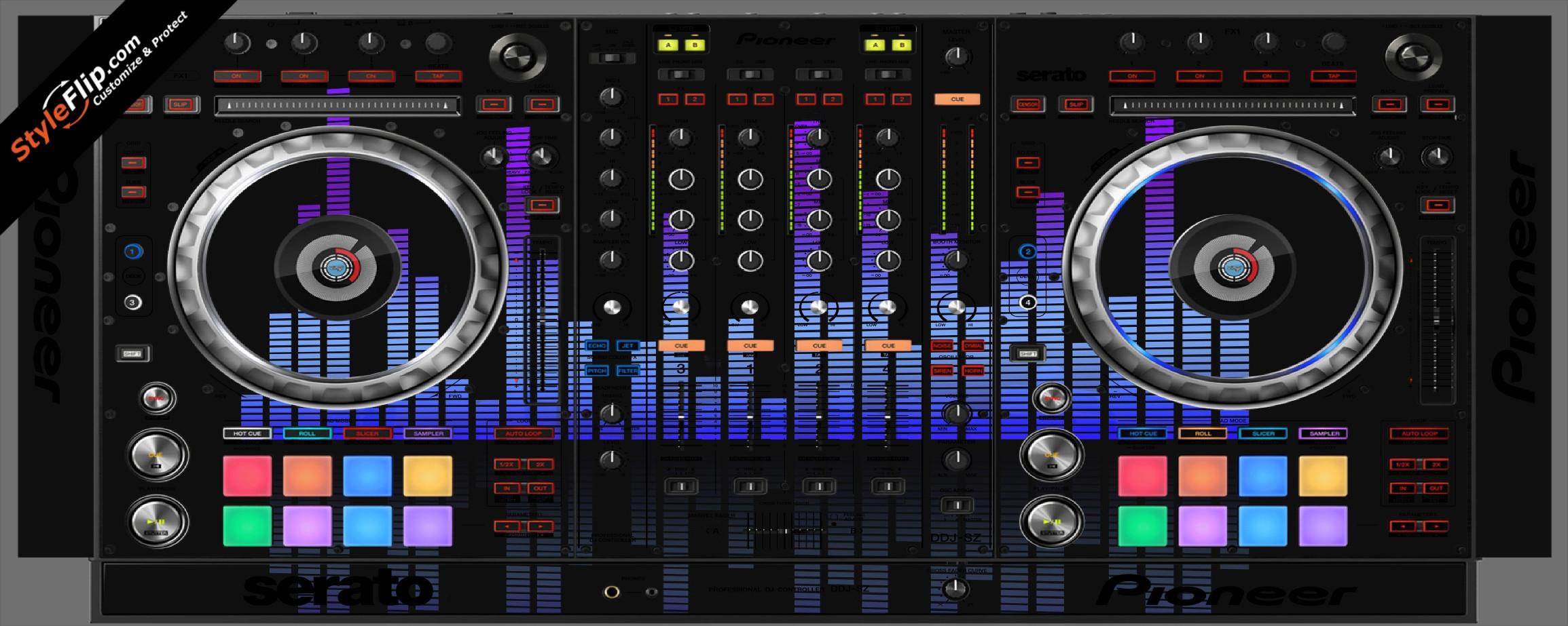 Blue Tones Pioneer DDJ-SZ
