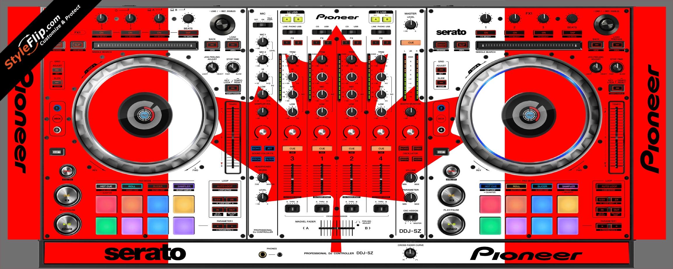 Canadian Flag  Pioneer DDJ-SZ