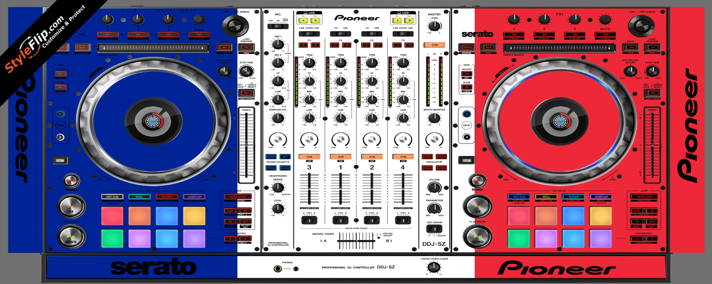 French Flag  Pioneer DDJ-SZ