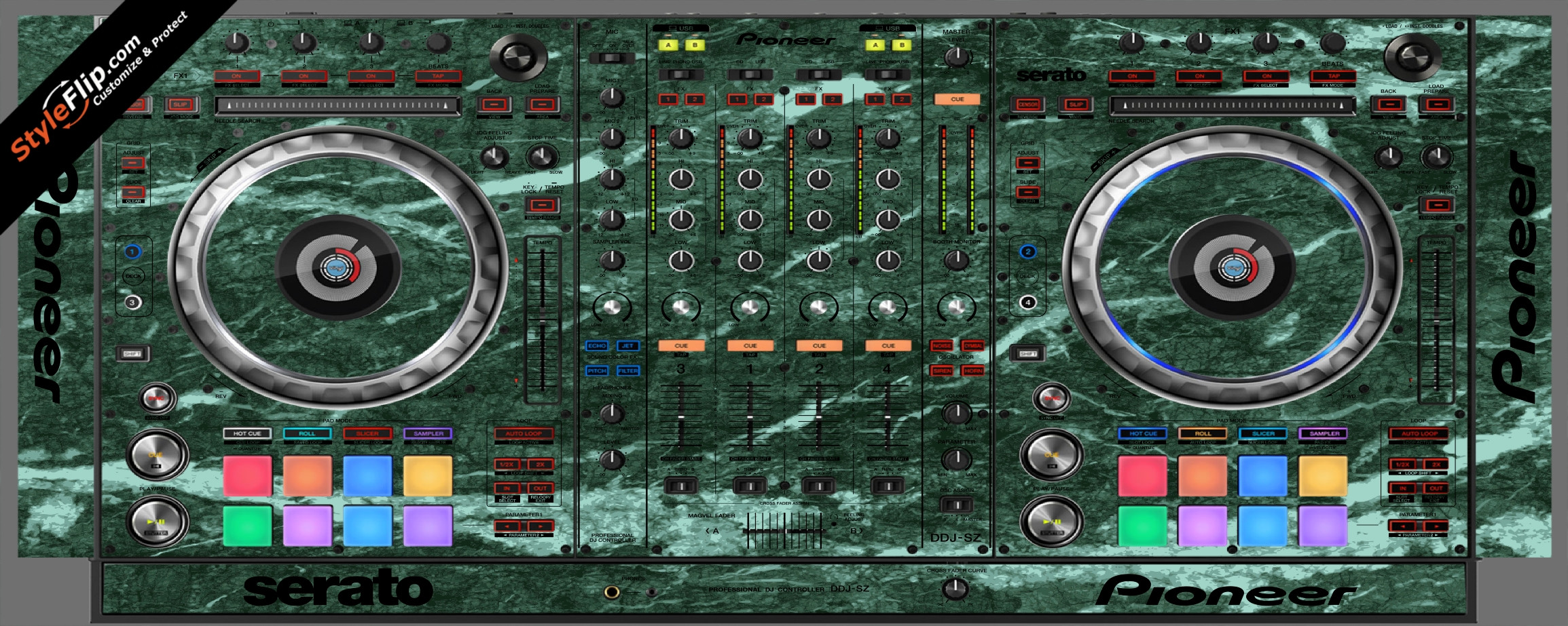 Green Marble Pioneer DDJ-SZ
