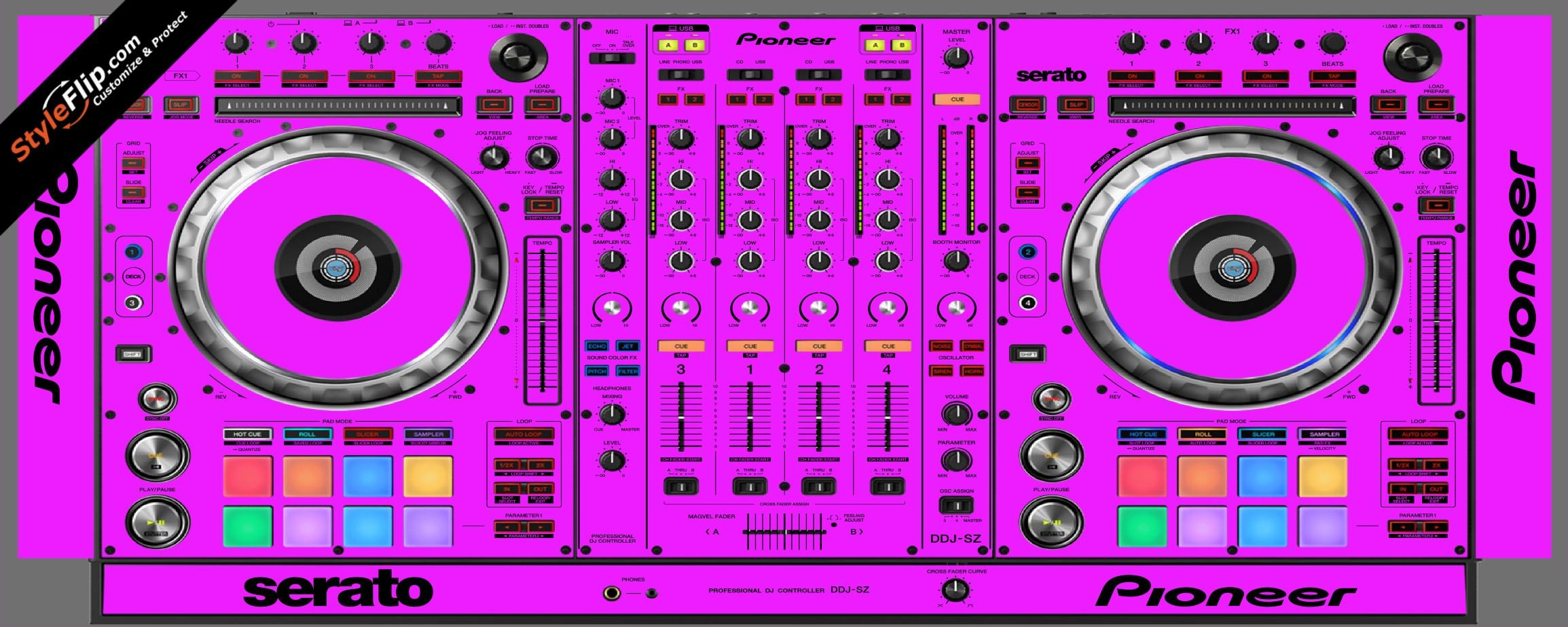 Solid Pink Pioneer DDJ-SZ