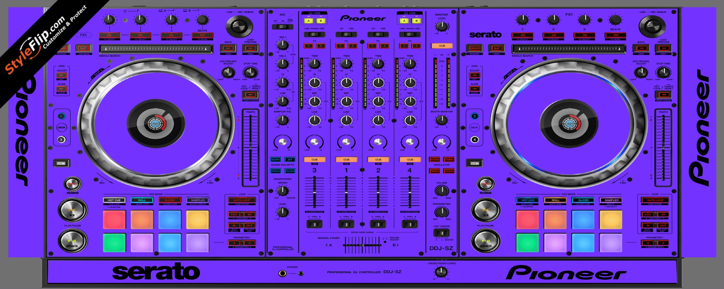 Solid Purple Pioneer DDJ-SZ