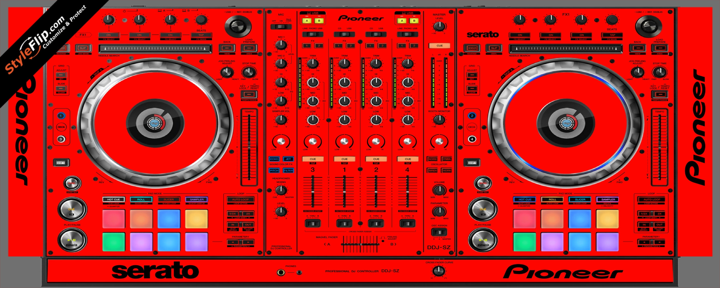 Solid Red Pioneer DDJ-SZ
