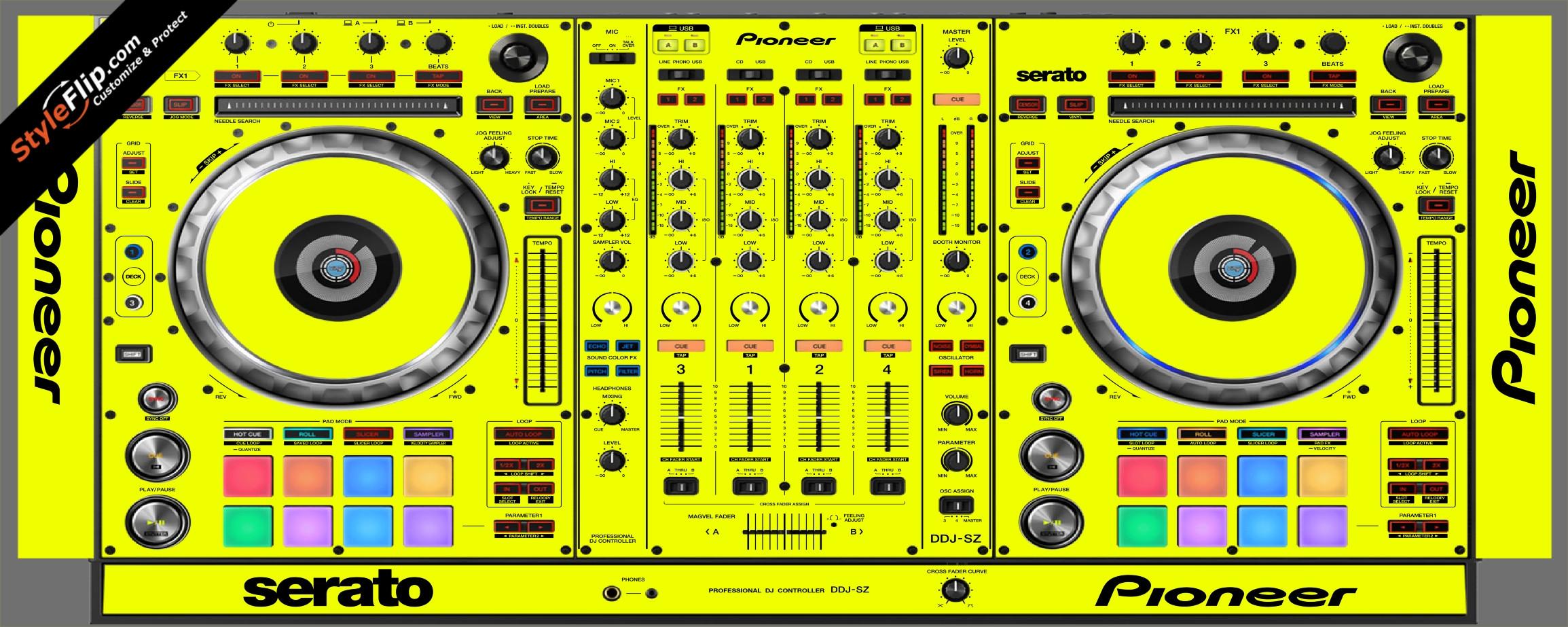 Solid Yellow Pioneer DDJ-SZ