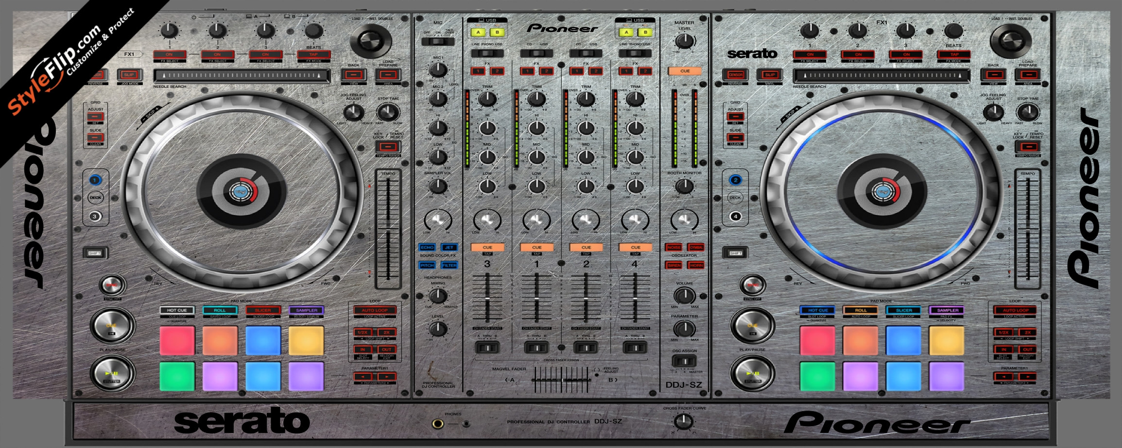 Steel Your Faceplate Pioneer DDJ-SZ