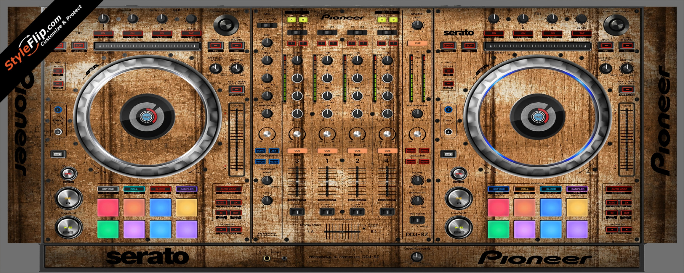 Wood Panels  Pioneer DDJ-SZ