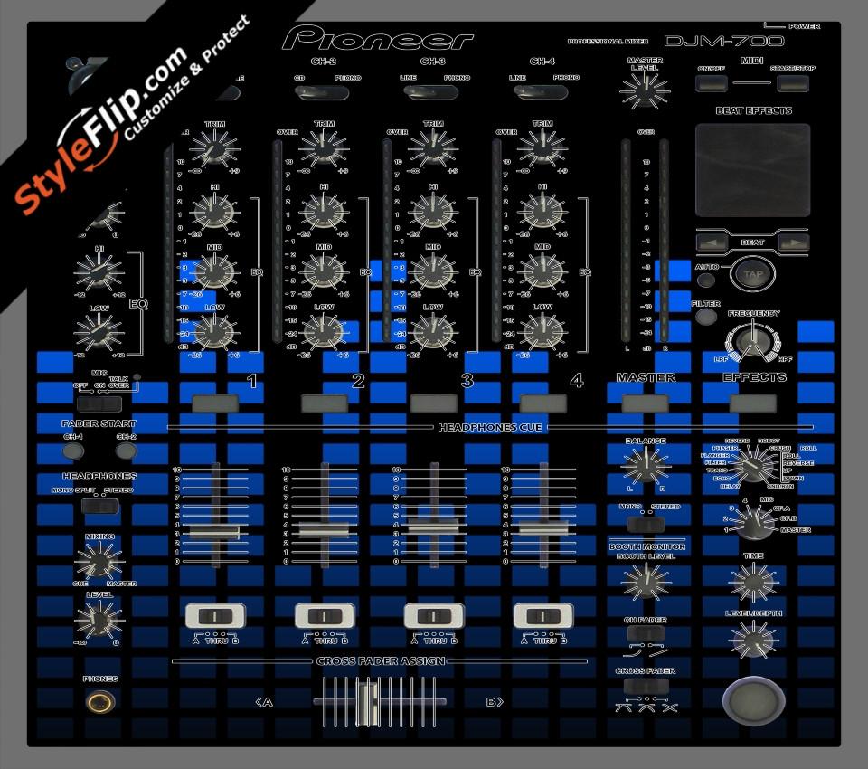 Blue Equalizer Pioneer DJM 700