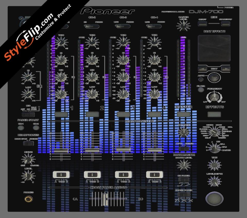 Blue Tones Pioneer DJM 700