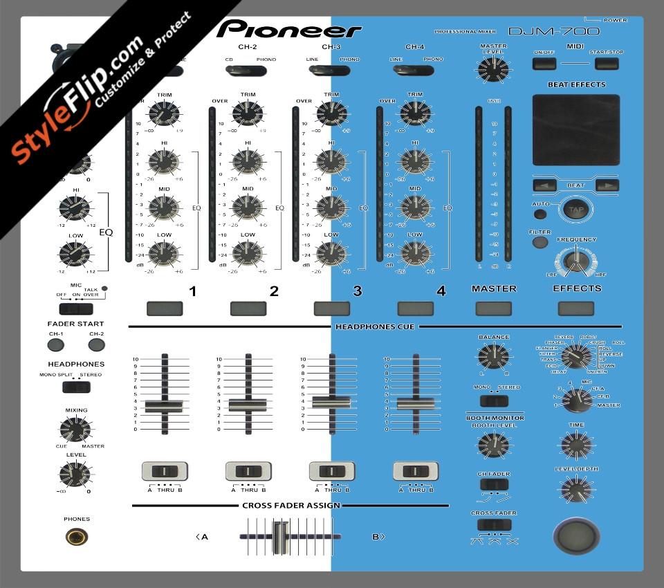 Blue & White Pioneer DJM 700