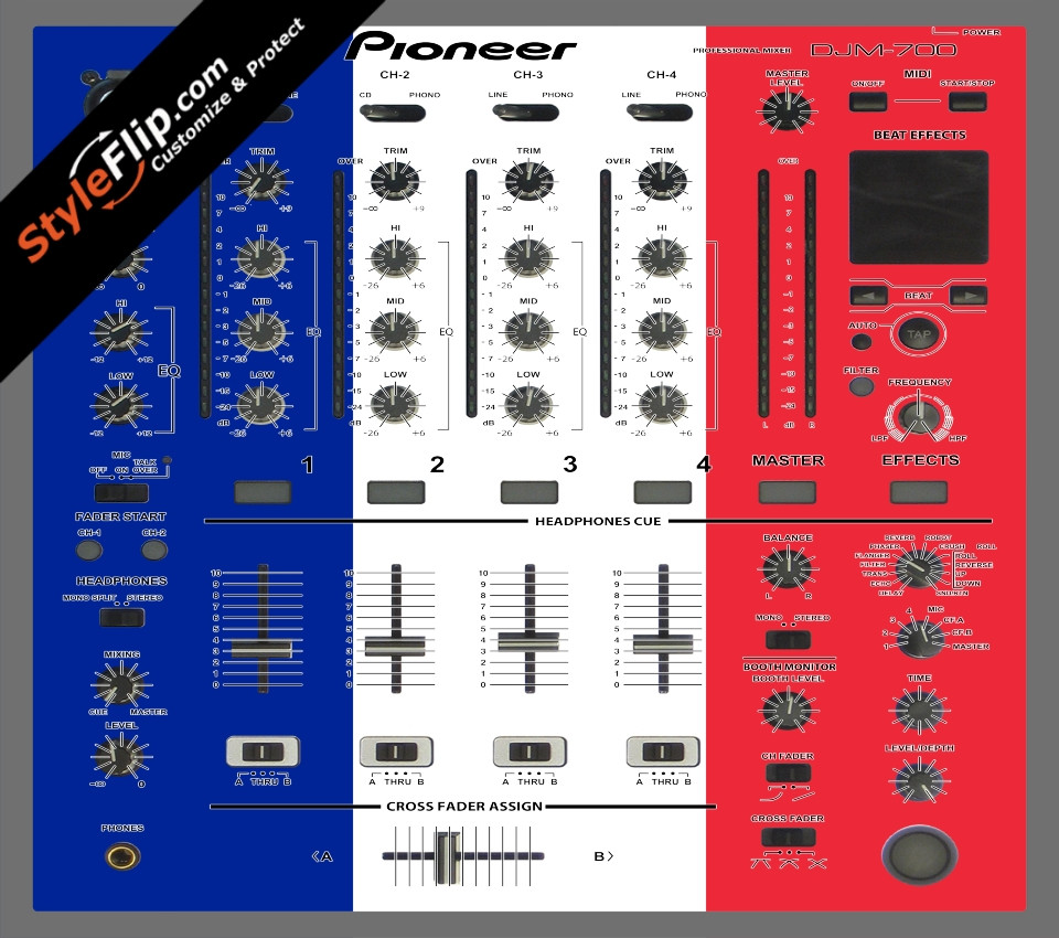 French Flag  Pioneer DJM 700