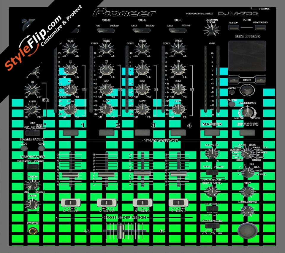 Green Equalizer  Pioneer DJM 700