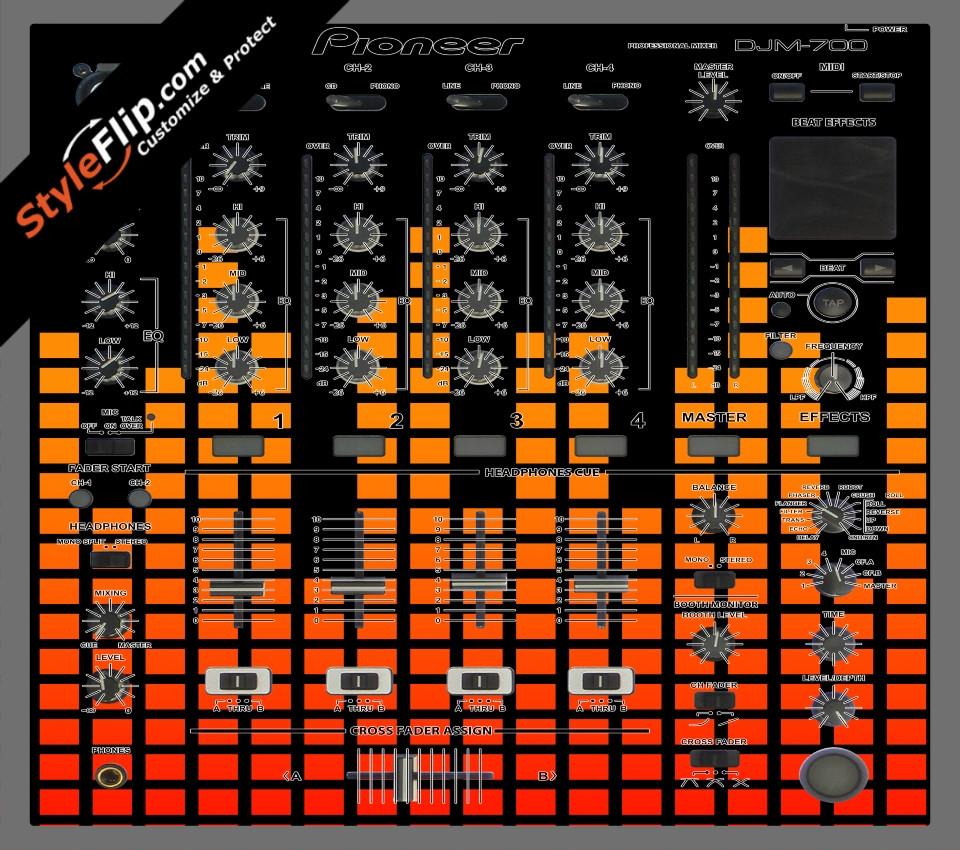 Orange Equalizer  Pioneer DJM 700