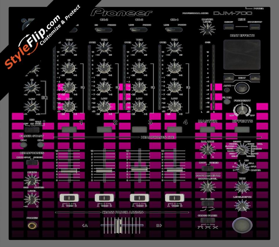 Pink Equalizer Pioneer DJM 700