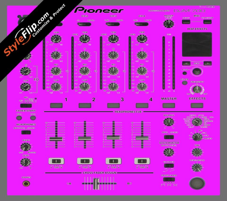 Solid Pink Pioneer DJM 700