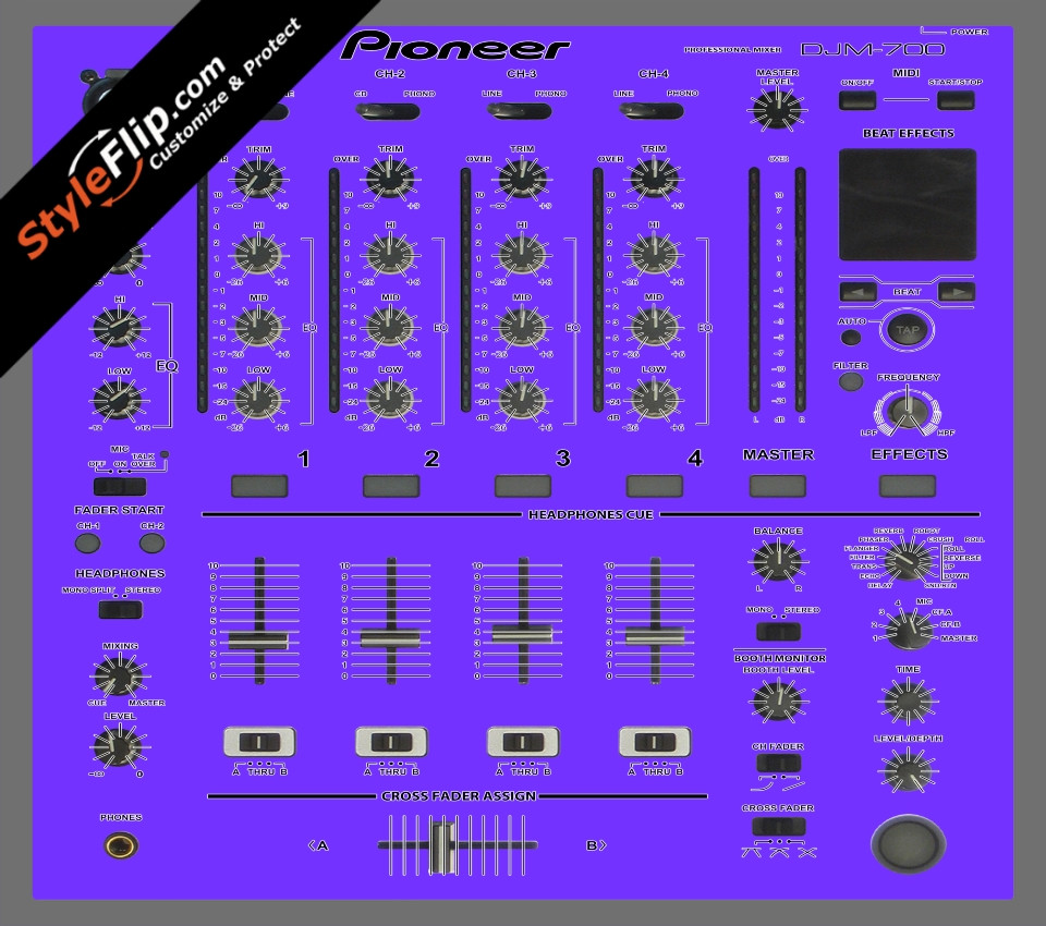 Solid Purple Pioneer DJM 700