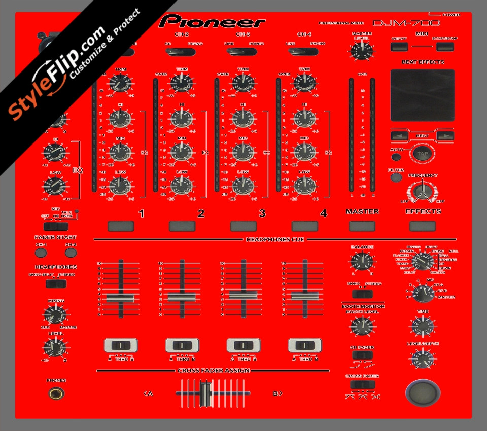 Solid Red Pioneer DJM 700