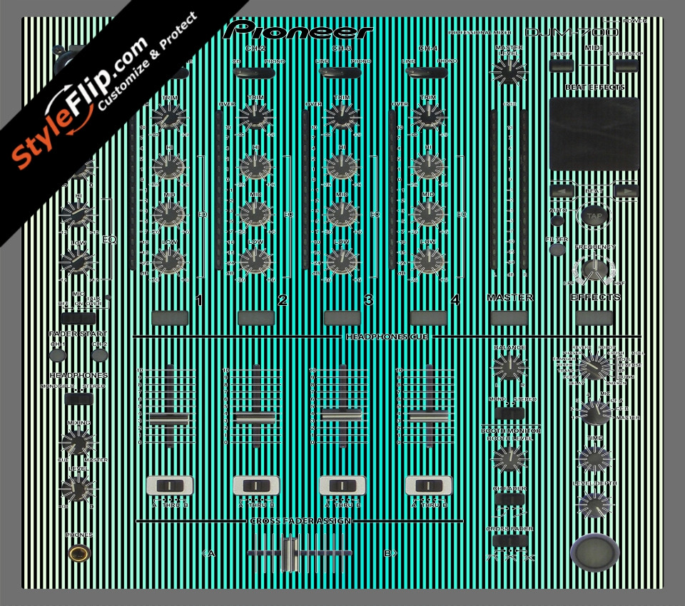 Teal Stripes Pioneer DJM 700