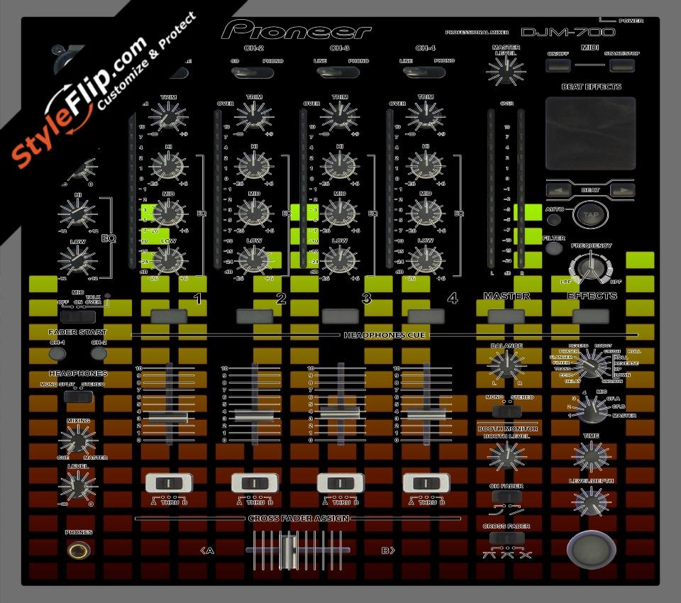 Warm Equalizer Pioneer DJM 700
