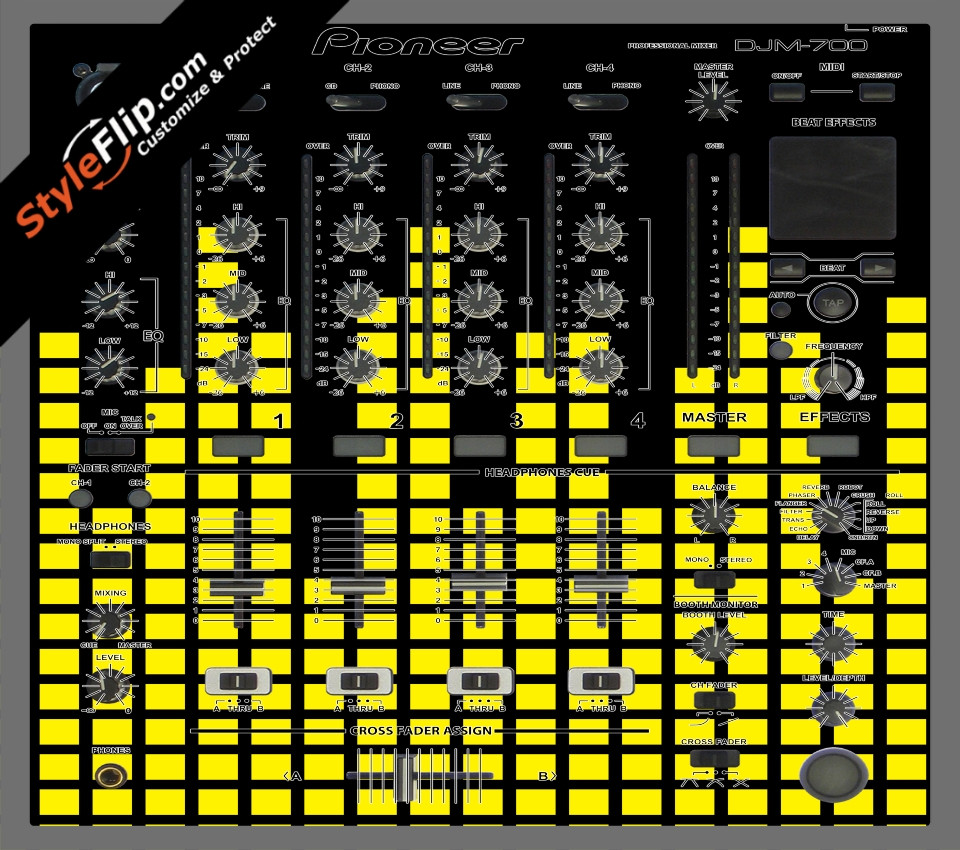Yellow Equalizer  Pioneer DJM 700