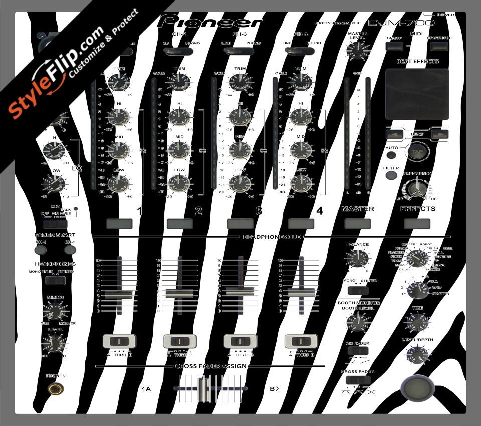 Zebra Print Pioneer DJM 700