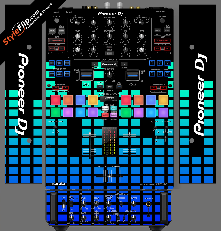 Blue Equalizer  Pioneer DJM S9
