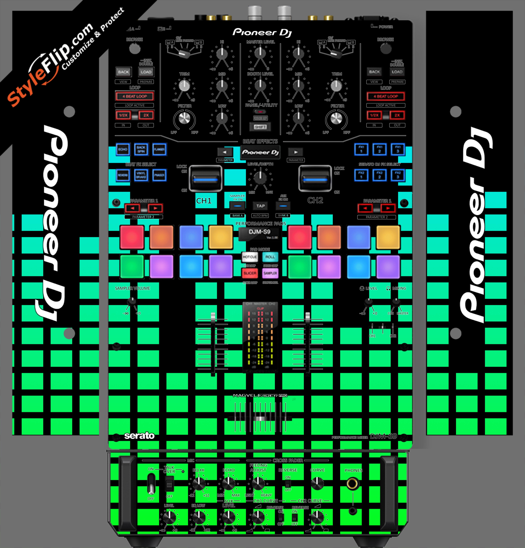 Green Equalizer  Pioneer DJM S9