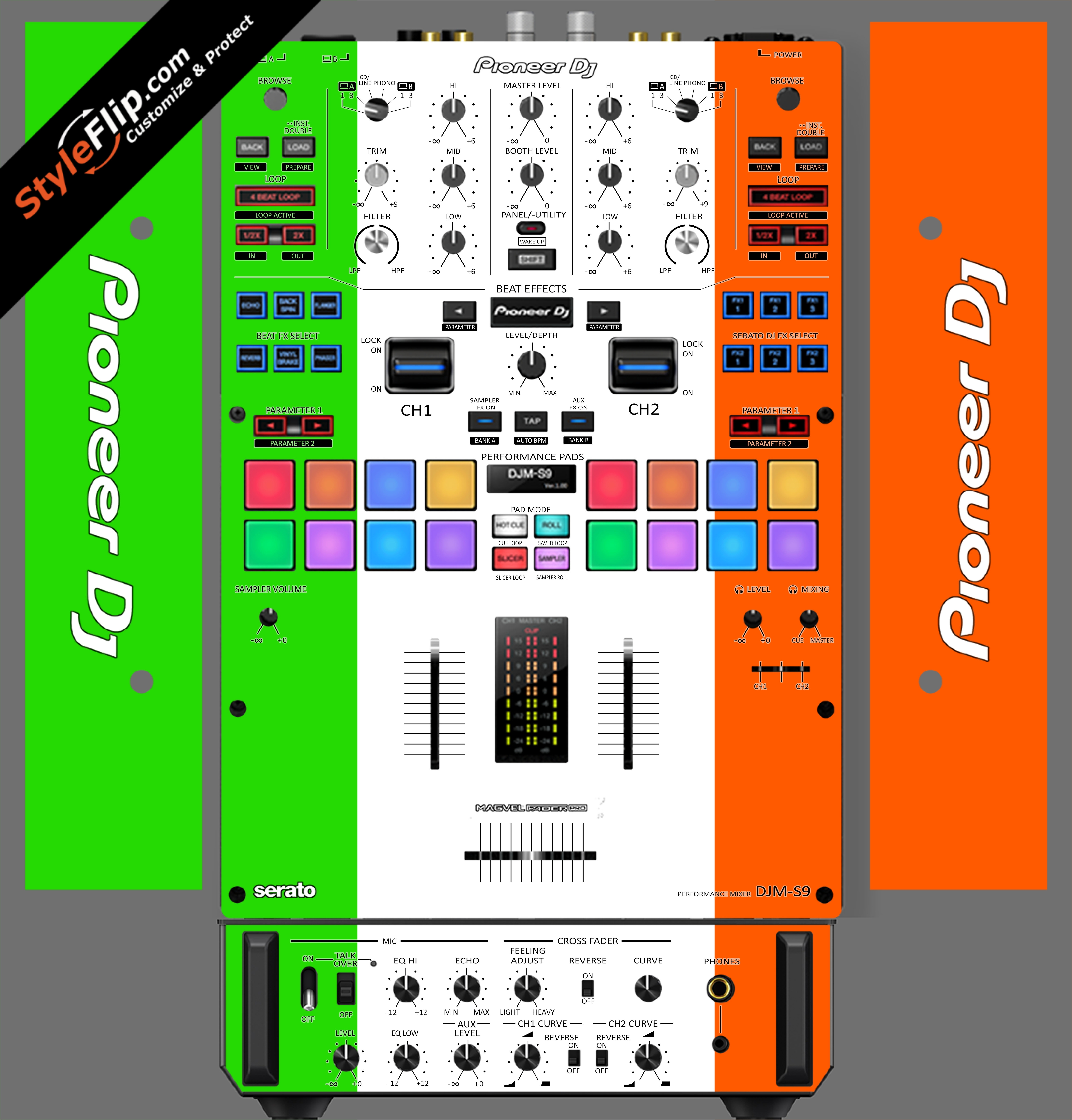 Irish Flag  Pioneer DJM S9